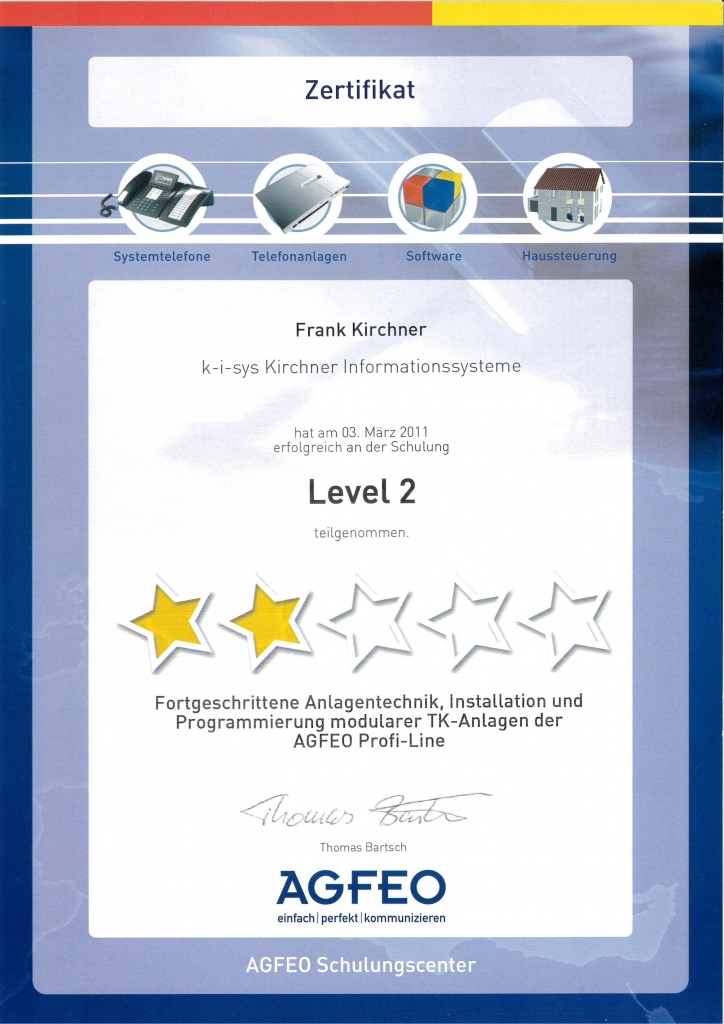 Level 1-3. Levelupdate, Haussteuerung, TK-Suite+VoIP 2011-2014